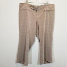 MOSSIMO Womens Beige Capri Pants Size 18 (23 1/2 Inseam) Stretch Cropped Slacks