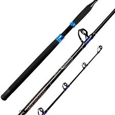 Fiblink 1-Piece Conventional Boat Rod Saltwater Offshore Graphite Casting Fis.