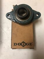 DODGE FLANGE-MOUNT TWO-BOLT BALL BEARING UNIT, 1-1/4 BORE, F2BSXV104SBORE, NEW