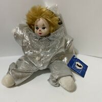 Vintage Classic Treasures Clown Face Porcelain Jester Baby Zandra Silver Outfit