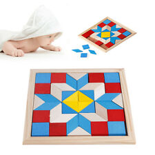 Geometry Tangrams Logic Brain Training Games IQ Wooden Puzzle Kids Toys Gifts