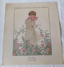 André Marty - Des Roses - Parfum de Rigaud vers 1914 gravure originale