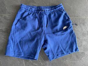 Nike Tech Fleece Shorts 2.0 Kurze Hose Blau 727357 091 L Bermuda Baumwolle Neuw