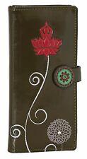 Shagwear Lotus Blossom Tall Wallet, Olive