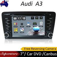 "7.0"" AUDI A3 Win CE Car DVD GPS Player Head Unit 2003-2014 Free Reverse Camera"