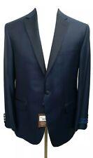 NWT David Donahue Men's 44 Reed Blue One Button Blazer Wool Tuxedo Dinner Jacket