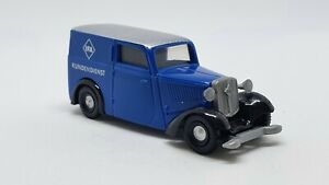 DKW F7 Van blue Brekina 1:87 HO Scale