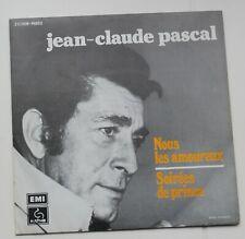 Jean Claude Pascal, nous les amoureux / soirées de Prince,  SP - 45 Tours