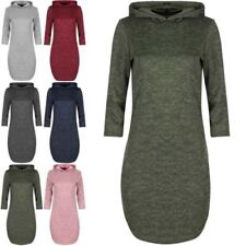 Polyester Dresses for Women with Hooded Midi