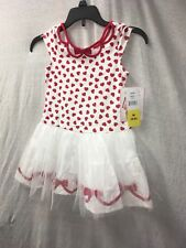 New Girl Sleeveless Party Casual Biscotti Girls Red Heart Tulle Dress Size 5/6