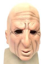 Old Man Realistic Mask 3/4 Face Fancy Dress Halloween Costume Male OAP Grandad