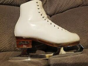 Harlick Ice Figure Skates John Wilson Coronation Comet Skating women's size 7 ?
