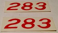 1957 Corvette 283 Valve Cover Decals (Pair)  283ci F.I.