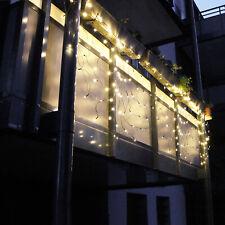 Lichtervorhang mit 70 LED/'s und 30 bunten Kugeln Fenstervorhang Weihnachtsdeko