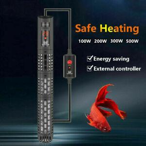 Submersible Aquarium Fish Tank Water Heater Thermostat UK Plug 50-500W UK STOCK