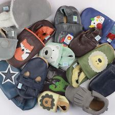 Baby Boys Shoe Bundle Dotty Fish Soft Leather Pram Shoe Non-slip Pre-walkers New