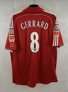 Liverpool Gerrard 8 Community Shield 2006 Shirt 2006/08 (2XL) Adidas B661