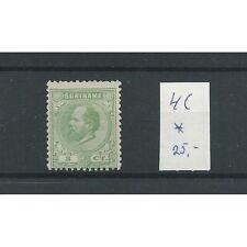 Suriname  4C 12,5x12 gr.gt.  MH/ongebr  CV 25 €