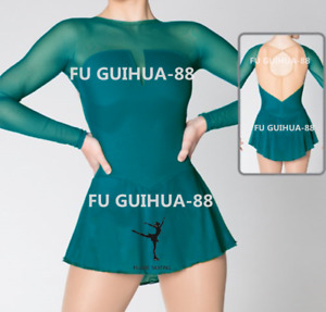 New Green Figure Skating Dress For Competition 21092417