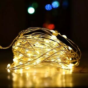 100 LED 10m Copper Wire Fairy String Lights 3AA Battery Waterproof Christmas