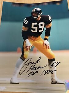 "Jack Ham Autographed Signed Black ""HOF 88"" 8X10 Photo NFL Pittsburgh Steelers"