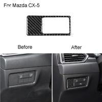 Für Mazda CX-5 2017 2018 Kohlefaser Scheinwerfer Wechseln Panel Trim Aufkleber