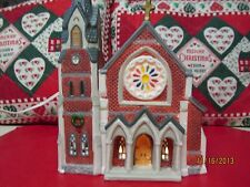 1995 CHRISTMAS HOUSE HEARTLAND VALLEY VILLAGE DICKENS LIGHT CHURCH BUILDING