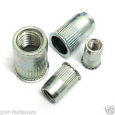 5mm BZP ACCIAIO Nutserts-Rivnuts-M5 rivetnuts-SEGHETTATO - 25 pacco
