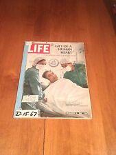 LIFE Magazine The Gift of the Human Heart December 15 1967 Louis Washkansky