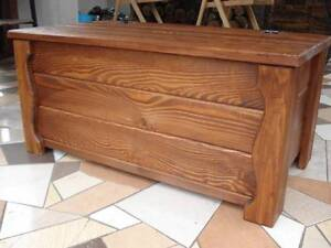 Wooden Blanket Box Coffee Table Trunk Vintage Chest Wooden Ottoman Toy Box (AL1)