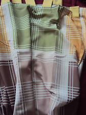 2 blickdichte Vorhänge Gardinen Deko Schal grün gelb beige Schlaufen B/H 137x245