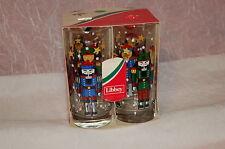 Vintage Libbey Nutcracker Christmas Glasses Set of 4 15 oz EUC