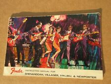 1960s Early 70s Fender Shenandoah Villager Malibu Newporter Manual