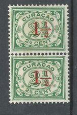 Curaçao 101 postfris paar; opdruk gedeeltelijk dubbel