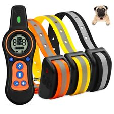 880 Yards Dog Training Electric Shock Collar LCD Waterproof Anti Bark for 3 Dogs