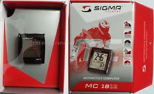 Sigma Sport MC 18.12 Moto black Tacho Motorrad Computer black kabelgebunden 1812