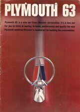 Plymouth Savoy Belvedere Fury Sport Fury 1963 Export Markets Sales Brochure