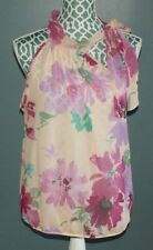 Sweet Pea Stacy Frati For New York & Company Sleeveless Floral Shirt Size M