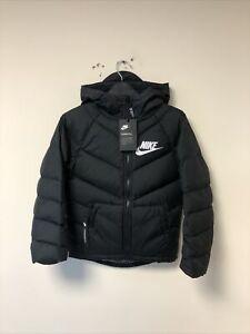 Unisex Nike Parka Coat In Black Size XS Age 6-7 122-128CM (939557-010) RRP £104