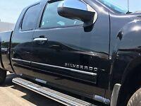 fits Silverado Gmc Sierra 09-13 Crew Cab Body Side Molding Overlay  Trim