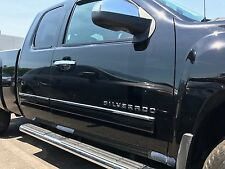 Chevy Silverado/Sierra 10-13 Extended Cab Body Side Molding Overlay Steel Trim
