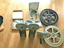 3 Vintage Winder / Rewind Arms Cine Film Movie Editor  Retro 2 LARGE REELS  ....