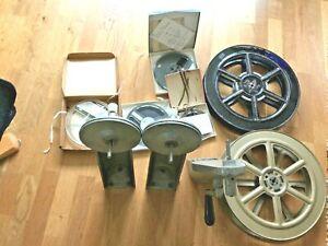 3 Vintage Winder / Rewind Arms Cine Film Movie Editor  Retro 2 LARGE REELS  ....