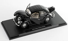 Spedizione LAMPO VOLKSWAGEN VW Classic Beetle Nero Welly Modello Auto 1:18 NUOVO