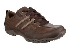 20ed2cf34c27 Skechers Mens Diameter Selent Smooth Leather Casual Oxford Shoes UK 6  190211455475
