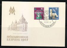 Germany DDR 1967 FDC card Mi 1254-1255 Sc 897-898 Leipzig Fair.Telescope,galaxy