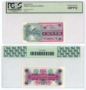 Series 661 MPC 5c U.S. Military Payment Certificate PCGS 68PPQ Superb Gem New