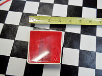 One NOS Red Rectangular BMX Chopper Muscle Bike Reflector