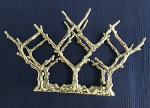 Gorgeous Pottery Barn Silver Cast Aluminum Figural Branches WINE Rack 10 Bottles