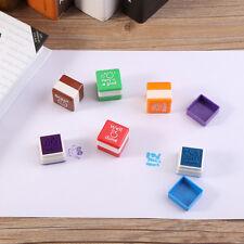 6pcs Teachers Self Inking Stamper Signet Praise Reward Stamps Stickers Kids Toys
